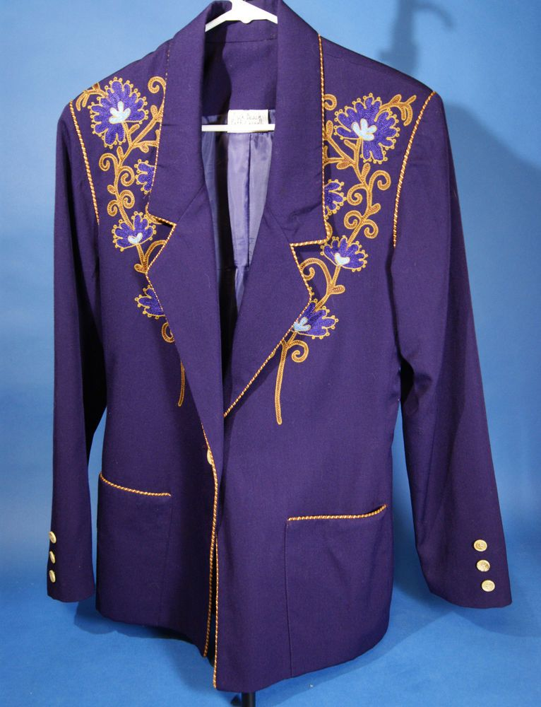Women\'s Jacket Size S Vintage Rick Beach & Patti Cappalli Purple ...