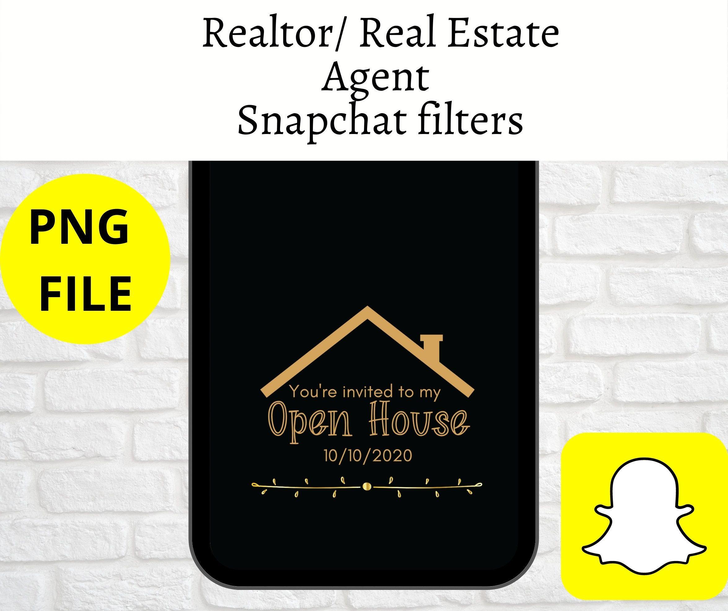 Real Estate Snapchat Filter Snapchat Filter Realtor Real Etsy In 2020 Real Estate Marketing Realtor Social Media Real Estate