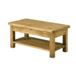 Table Basse Campagnard Pin Cire 100 Cm Hannover Table Basse Bois