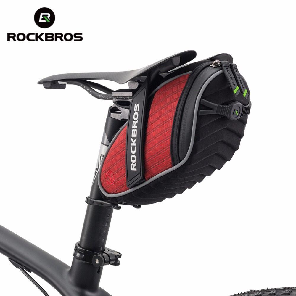 Rockbros Cycling Rear Seatpost Bag 3d Shell Rainproof Saddlebag