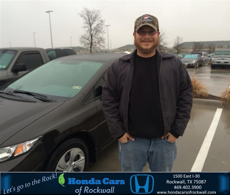 I CAME TO THIS DEALERSHIP BECAUSE MY FATHER BRINGS HIS VEHICLE IN FOR SERVICE AND ALWAYS RECIVES GOOD SERVICE. MY SALES PERSON WAS DAWN AND WAS  THE BEST SALESPERSON I HAVE EVER DELT WITH. I WILL DO MY BEST TO SEND AS MANY PEOPLE THIS WAY AS I CAN. BY THE WAY, I DROVE PAST AT LEAST 4 OTHER HONDA DEALERSHIPS TO GET HEAR FROM WATAUGA TX TO ROCKWALL. - Garrett Gant, Wednesday, January 08, 2014 http://www.hondacarsofrockwall.com/?utm_source=Flickr&utm_medium=DMaxxPhoto&utm_campaign=DeliveryMaxx
