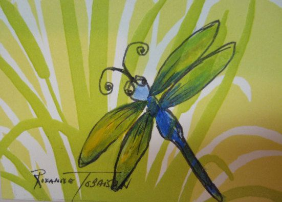 DRAGONFLY themed Blank Note Cards Set of 8.