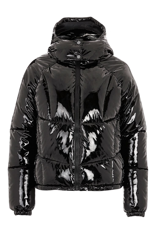 Vinyl Hooded Puffer Jacket Puffer Jackets Stylish Jackets Leather Jacket Men [ 1530 x 1020 Pixel ]