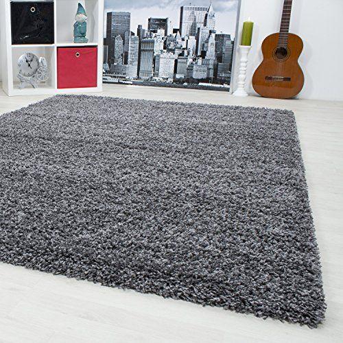 Hochflor Shaggy Teppich Langflor Wohnzimmer einfarbig Rec\u2026 want