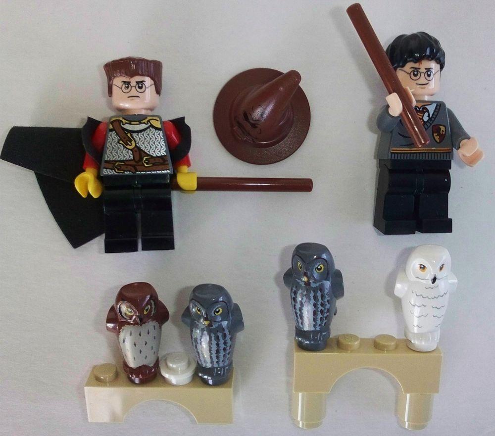 Lego Harry Poter Mini Figure Lot Harry Owls Hat Extras