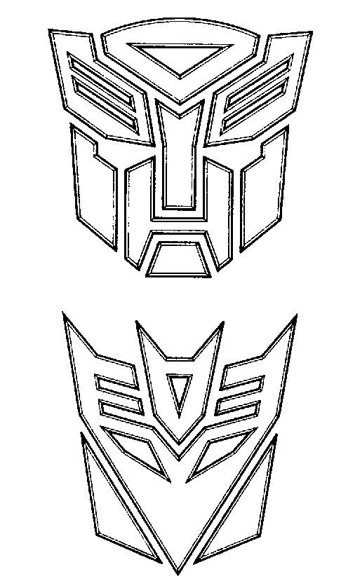 The Two Arms Of The Robot Transformers Coloring For Kids ...