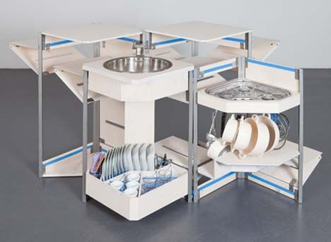 Justin Case Compact Modular Kitchen In A Box By Maria Lobisch And Andreas