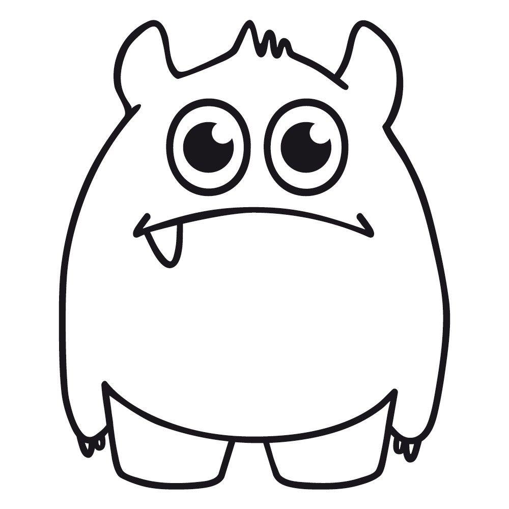 Happyfabric Einzahn Lustige Malvorlagen Monster Malen Monster Nahen