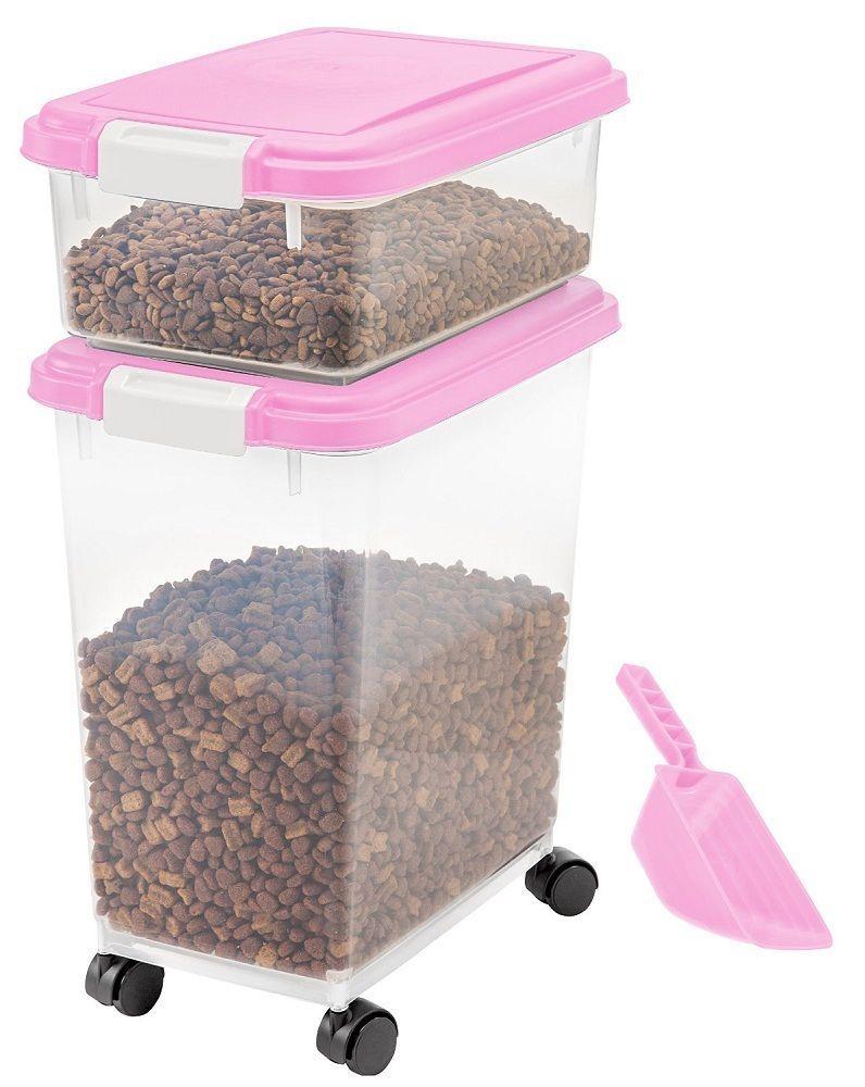 Iris 3 piece airtight pet food container combo storage