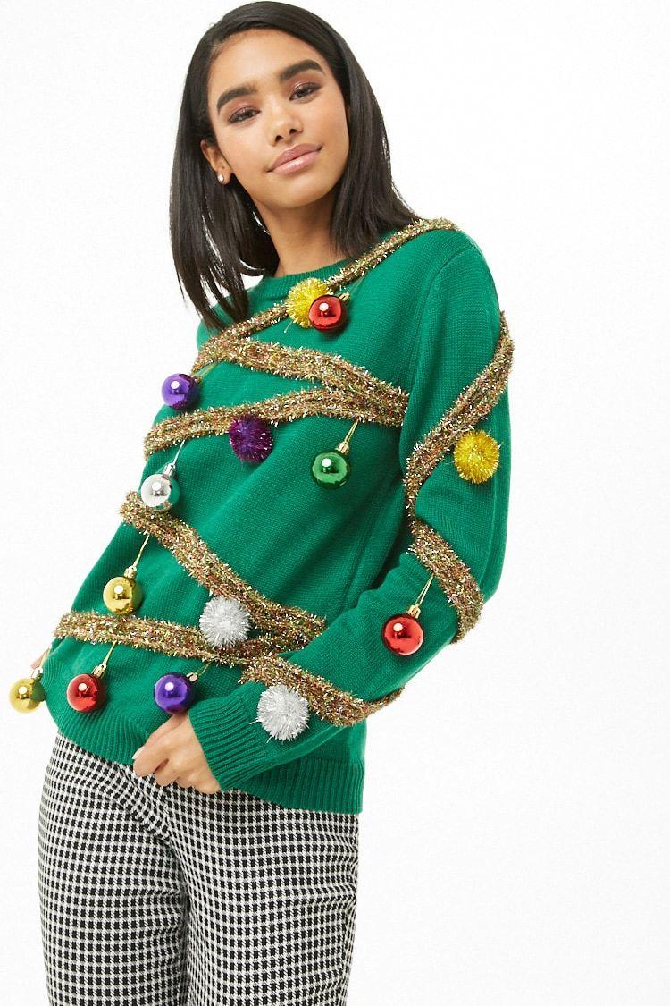 Christmas Tree Sweater Prendas Para Navidad Cosas De Navidad Sueteres Navidenos