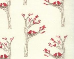 Winters Lane - Aryle Birds Snow by Kate Birdie Paper Co from Moda