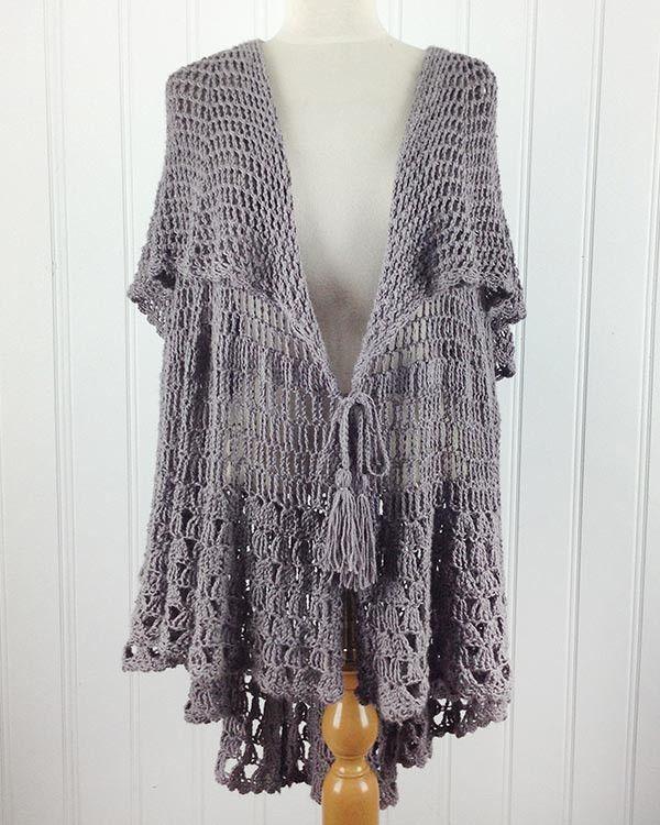 East Hampton Vintage Cape Crochet Pattern | Ponchos, Capilla y Capa ...