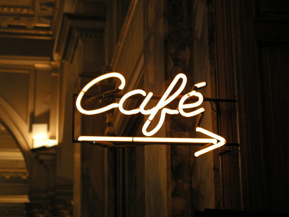 enseigne lumineuse n on caf illuminated sign neon sign. Black Bedroom Furniture Sets. Home Design Ideas