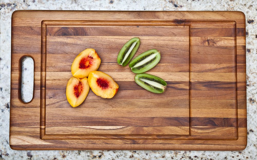 Cutting board made out of sustainable FSC certified organic teak by Proteak Renewable Forestry