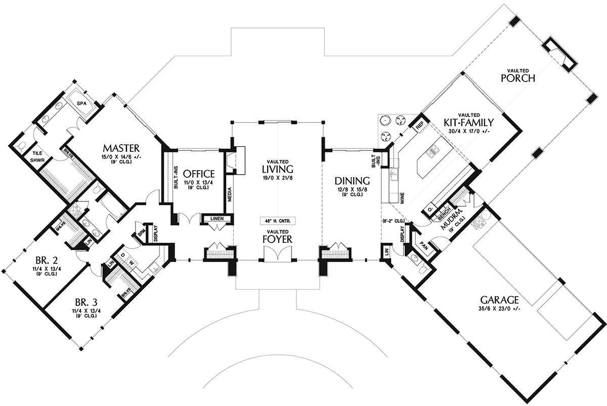 House Plan 2559 00739 Contemporary Plan 3 278 Square Feet 3 Bedrooms 2 5 Bathrooms Contemporary House Plans House Plans House Plans And More