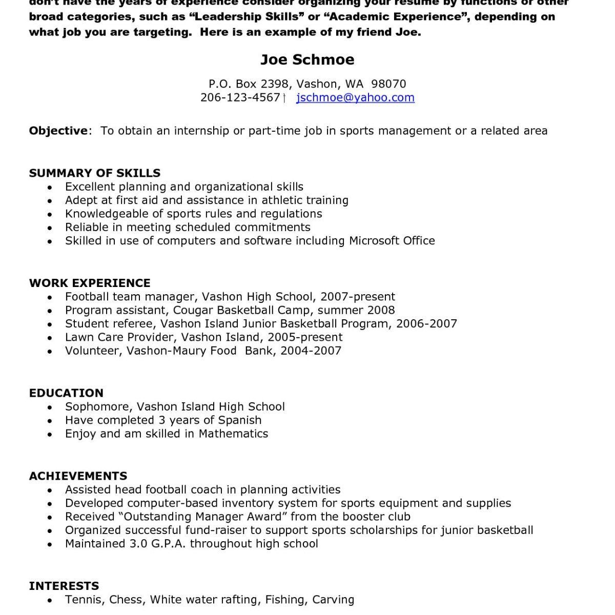 student academic achievements in resume  best resume examples
