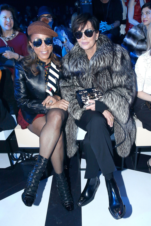 8c670c565d4 Kris Jenner et Marjorie Harvey au défilé Louis Vuitton.