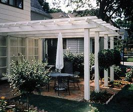 Bachmans Landscaping Patio Trellis Porch With Pergola 400 x 300