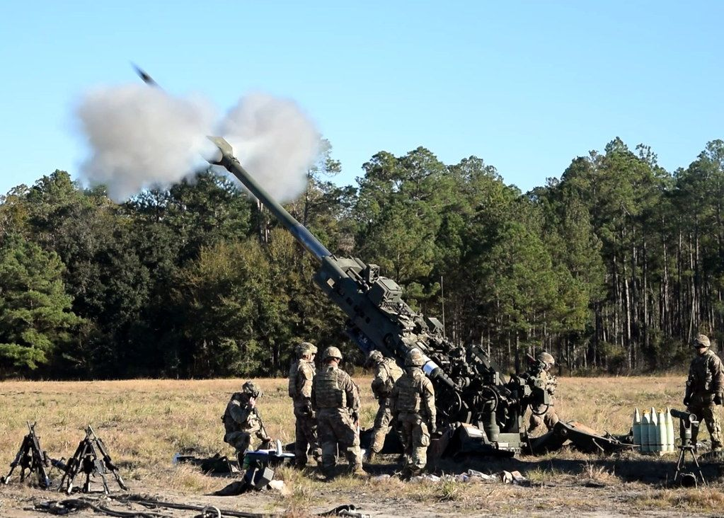 Aim high and stay low. Your opportunity to fire a M777