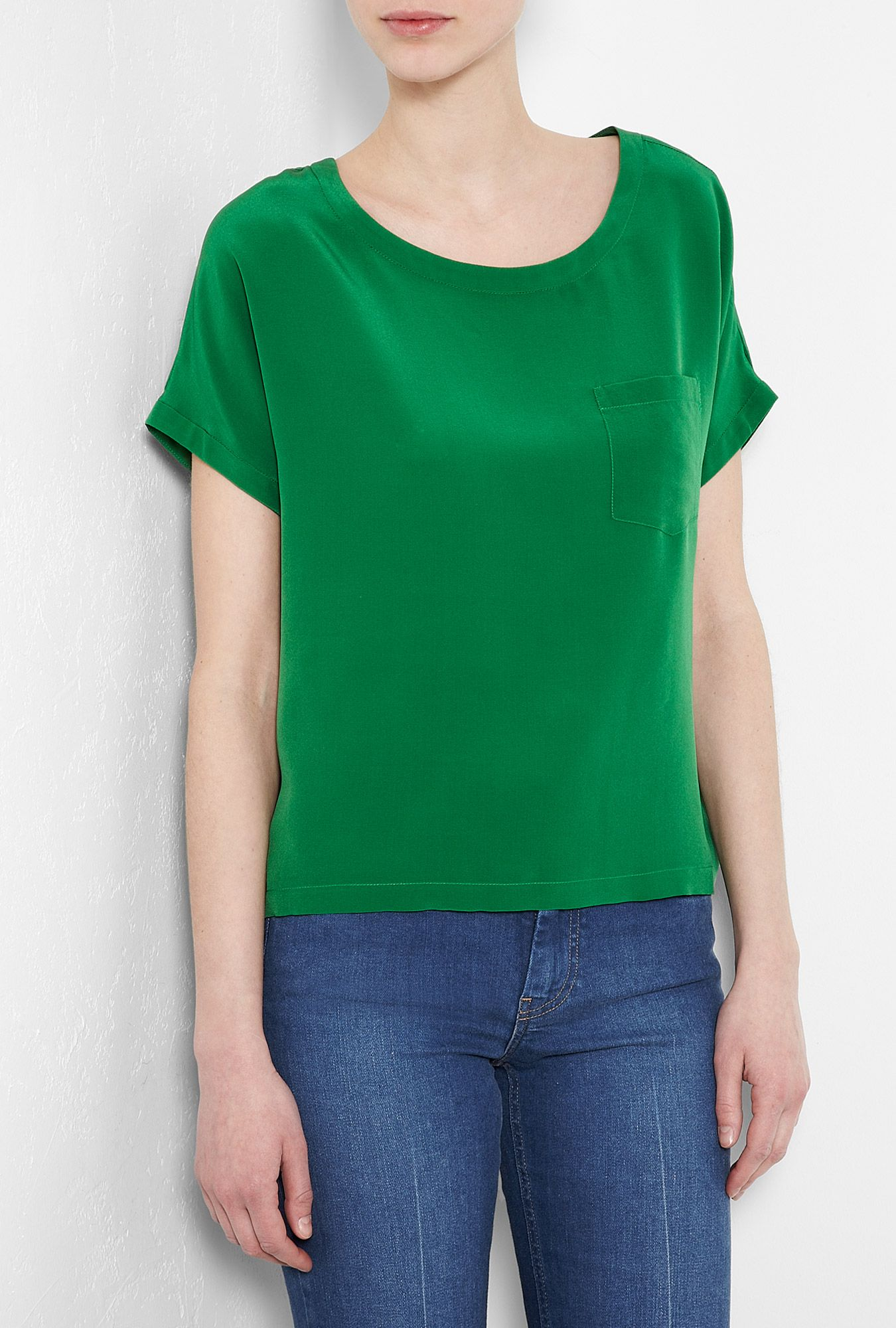 34424cfc4323c SEE BY CHLOÉ GREEN SILK TOP | | style obsessions | | Tops, Silk top ...