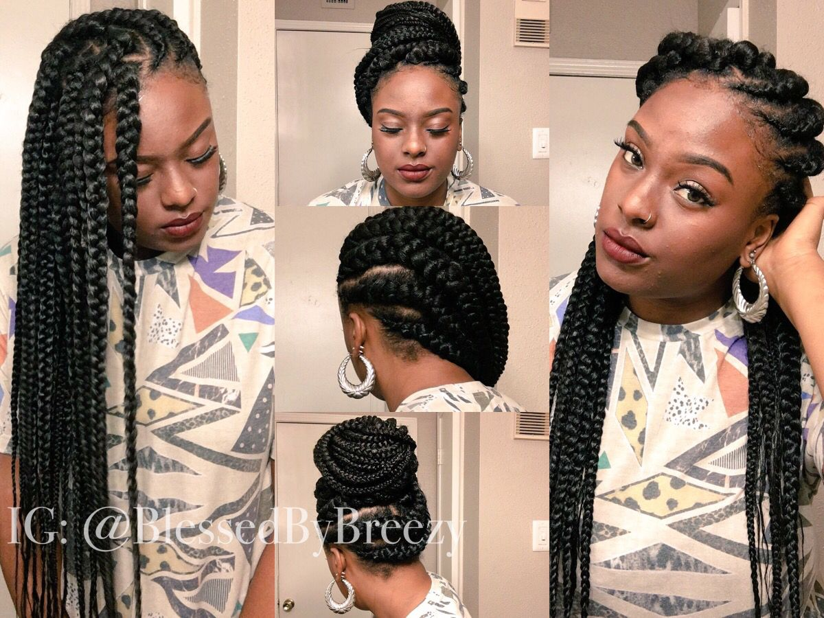 This is a cool protective style i thought of at the last minute i