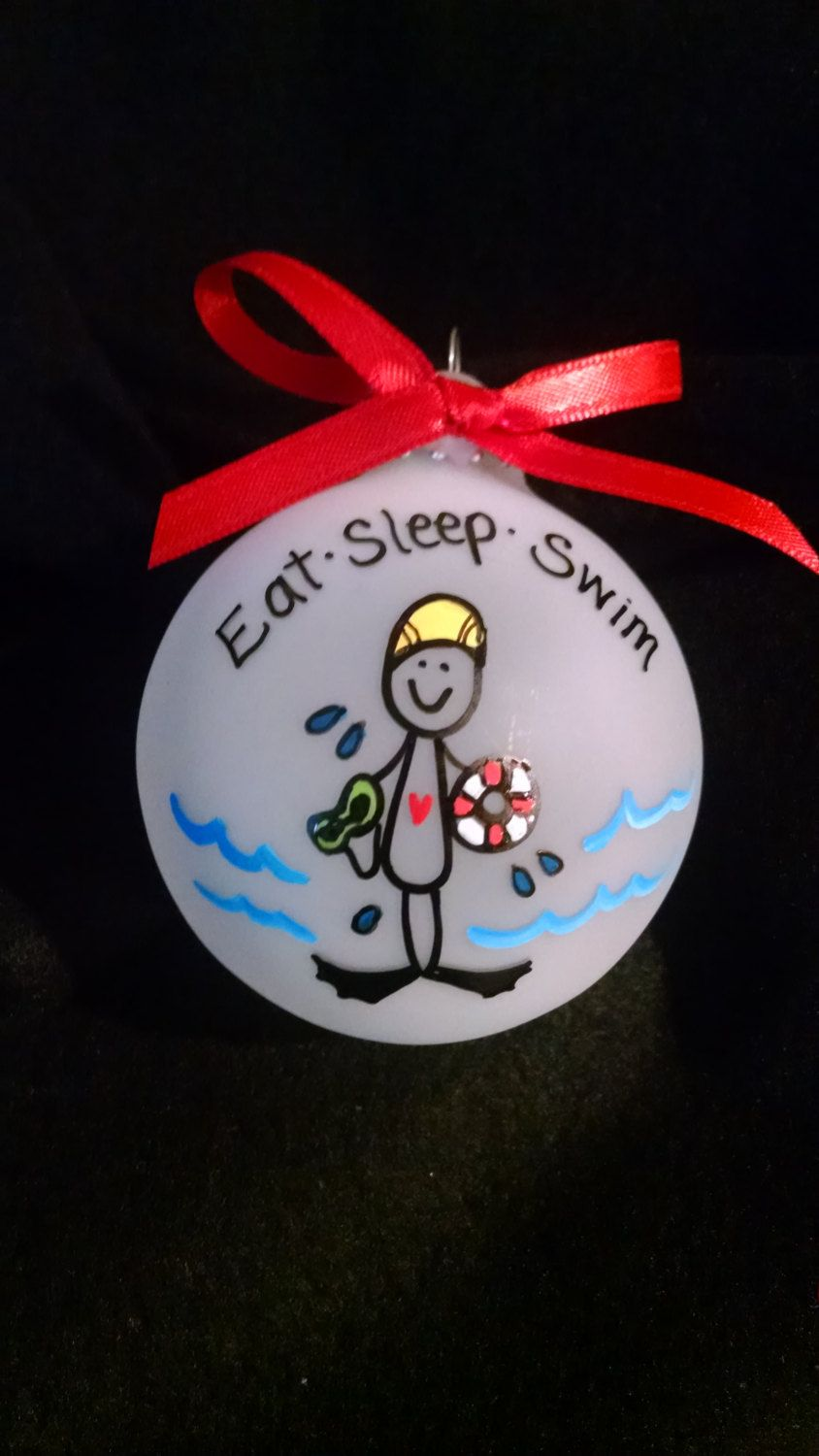 Swimmer Personalized Christmas Ornament - Swim Holiday