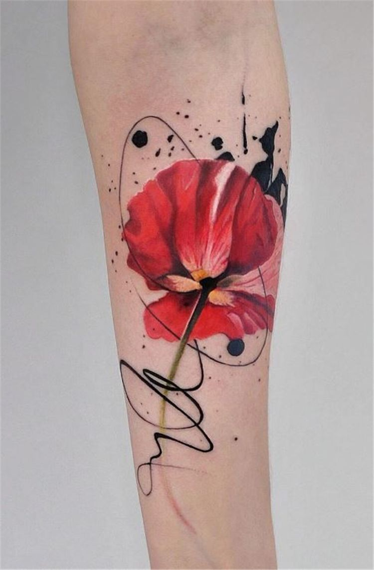 Amazing And Gorgeous Watercolor Tattoo Ideas You Ll Love Watercolor Tattoo Ideas Watercolor Tattoo Watercolor Tattoo Flower Flower Tattoo Poppy Flower Tattoo