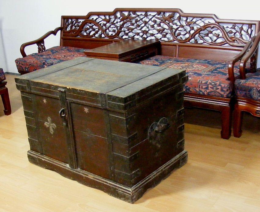 Truhe Wohnzimmertisch ~ Antik orient massive aussteuer truhe tisch couchtisch tischtruhe