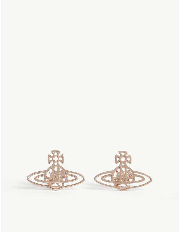 3dac8c4f8 VIVIENNE WESTWOOD JEWELLERY Thin Lines flat orb stud earrings in ...