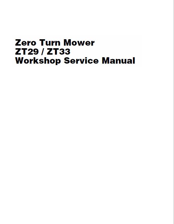 Massey Ferguson Z29 Z33 Mower Service Manual Massey Ferguson Manual Ferguson
