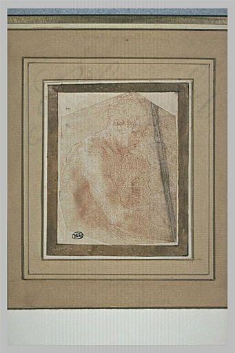 Le Primatice, Homme nu, vu en buste de 3/4 vers la droite, Le Louvre