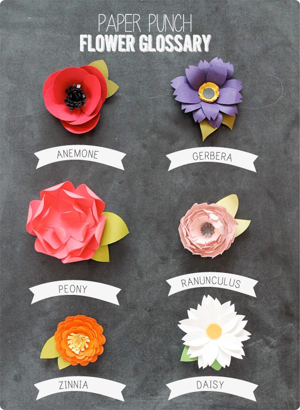 Easy Paper Punch Flowers