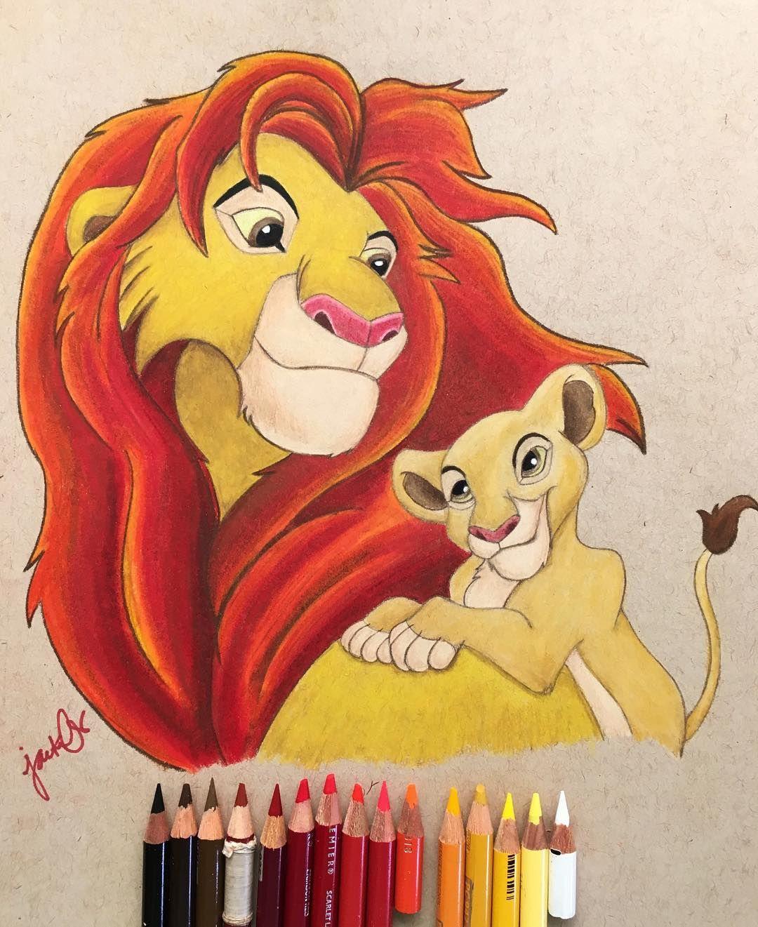 размеры король лев рисунок цветной того, чтобы