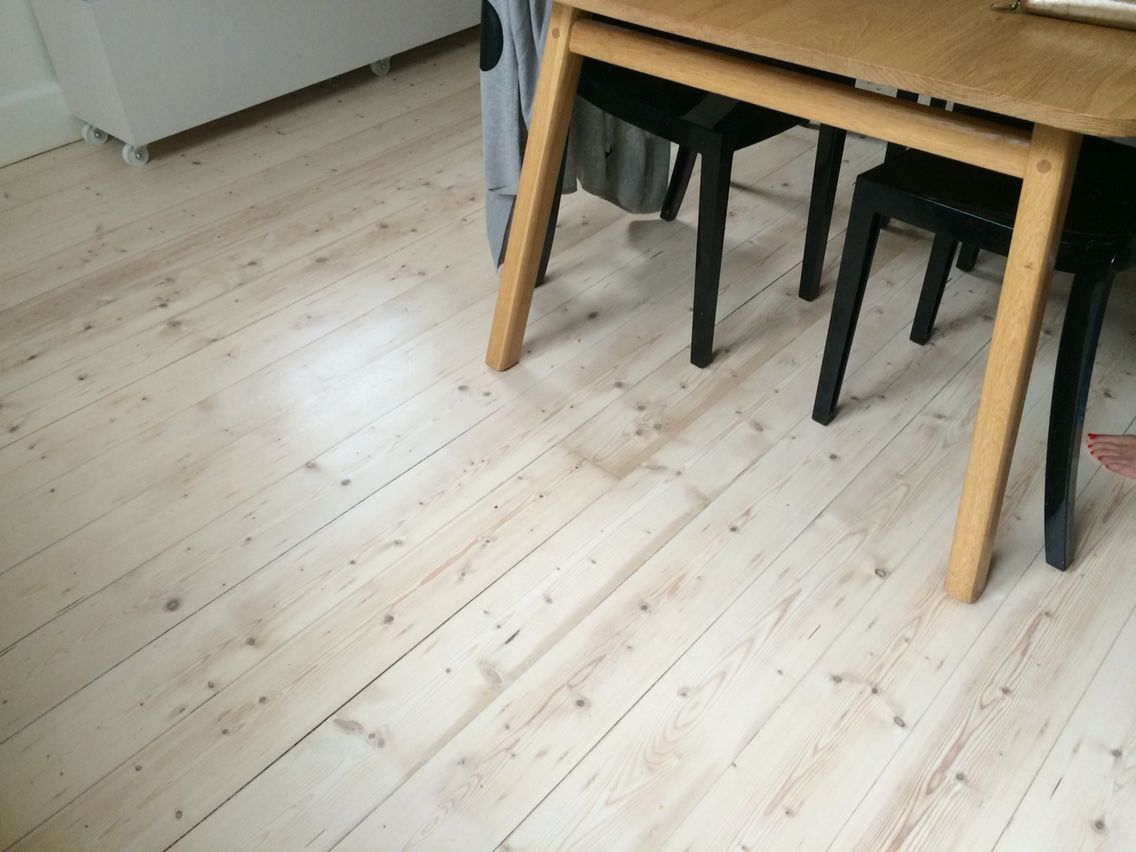 Half White lime on old Baltic pine floor with matt finish ...