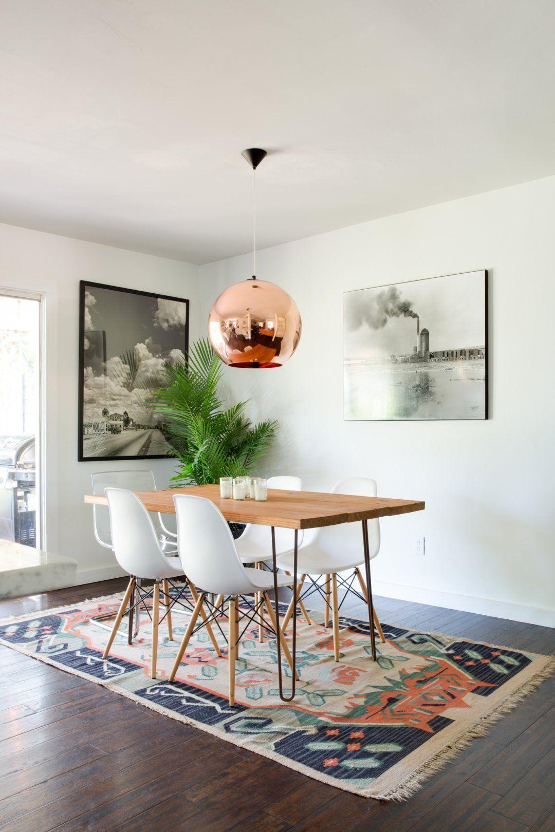 Get The Look Modern Meets Bohemian In Austin Bohemian Dining Room Living Room Dining Room Combo Bohemian Living Room Decor
