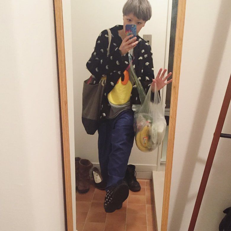 ライフで甥っ子らしき小学生と仲良く買い物をしてるA武さんに遭遇ただいま #ファッション #途中でやめる #ニートくん by tomichunk