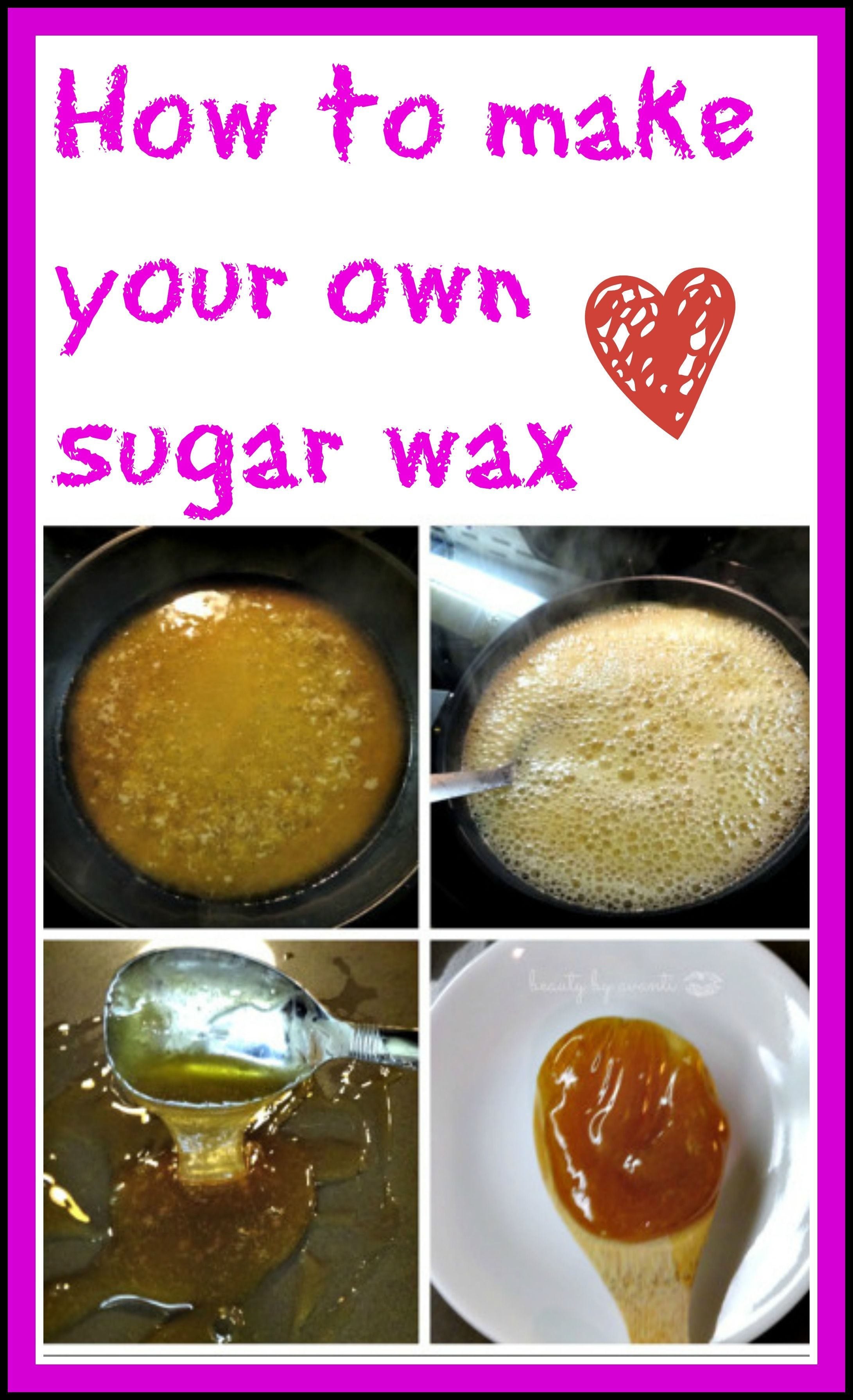 Super EASY sugar wax you can make right at home (you probably have ALL the ingredients you need right in your cupboard) Plus you can reuse the wax over and ...