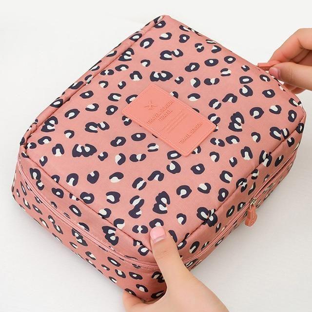 Reisekosmetiktasche – Leopard pink