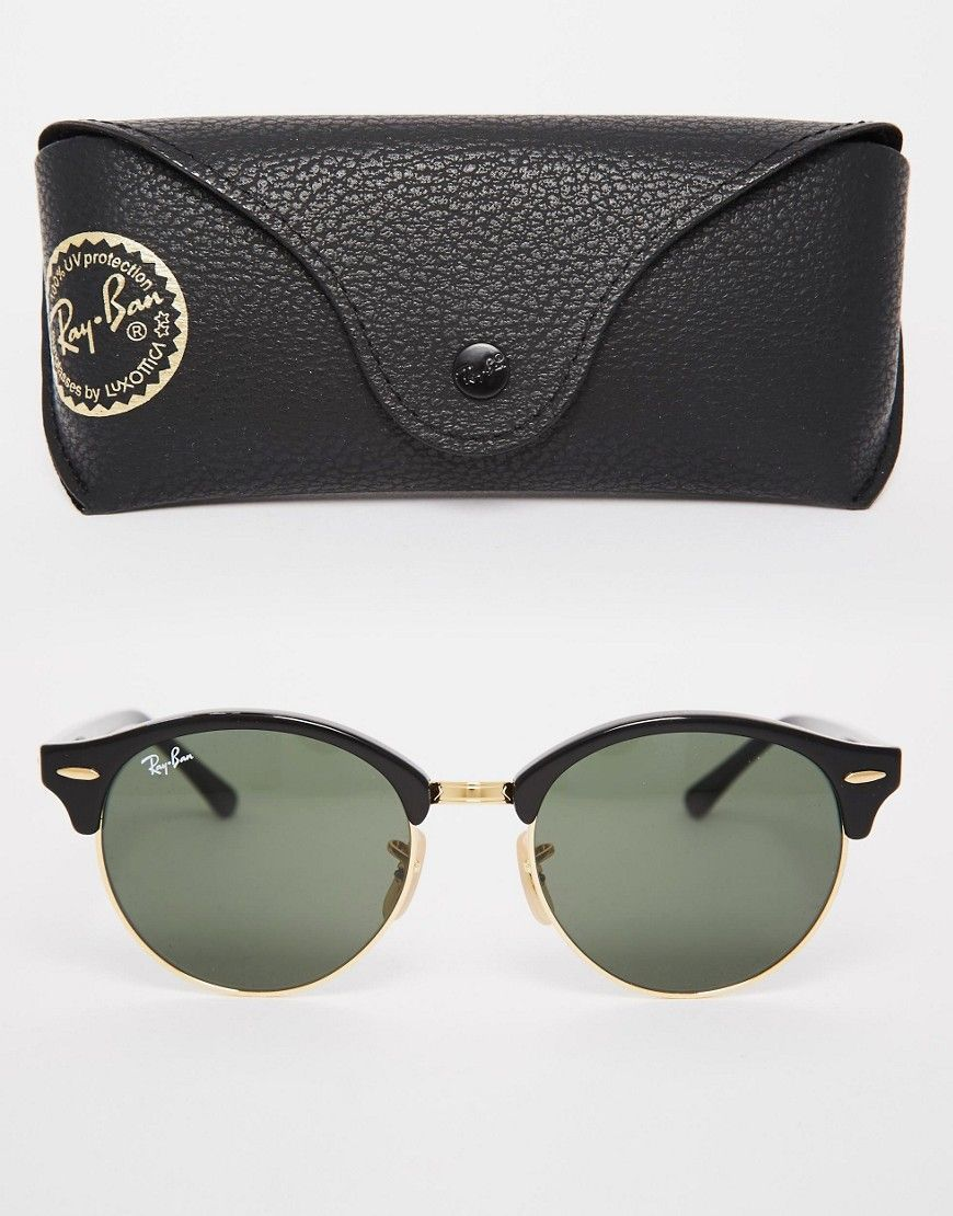 Image 2 - Ray-Ban - Lunettes de soleil rondes Clubmaster Plus   Ray ... 3f0901e68d19