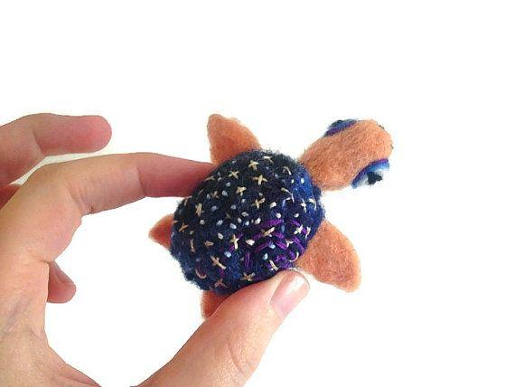 mini felted turtle - $42