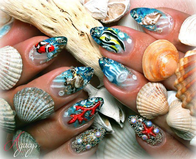 water nail art nail design