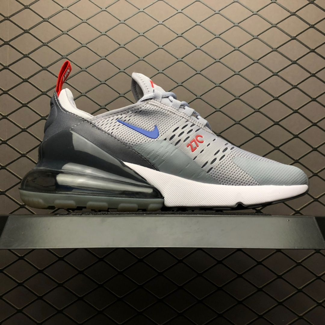 2019 Nike Air Max 270 Grey Blue Mens Shoes For Sale CD7338