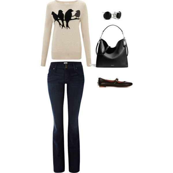"""""""bird casual"""" by lisa-quirin on Polyvore - this is very me & close to items I own :)"""