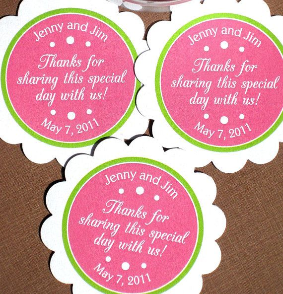 PRINTABLE Wedding Favor Labels For Tags Stickers By Ladybuglabels 1000