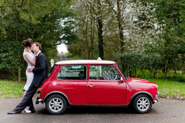 this would be just another shot of a wedding without the lovely red mini