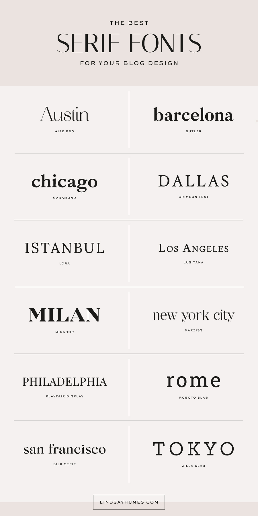 The Best Serif Fonts for Blog Designs Best serif fonts