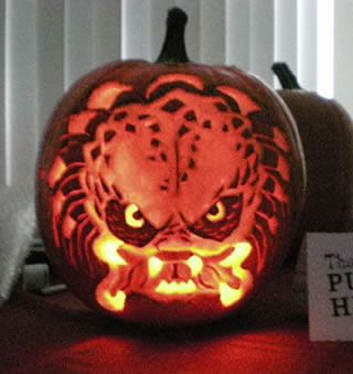 Predator Real Ugly Alien Carved Pumpkin Example Photo: click to ...