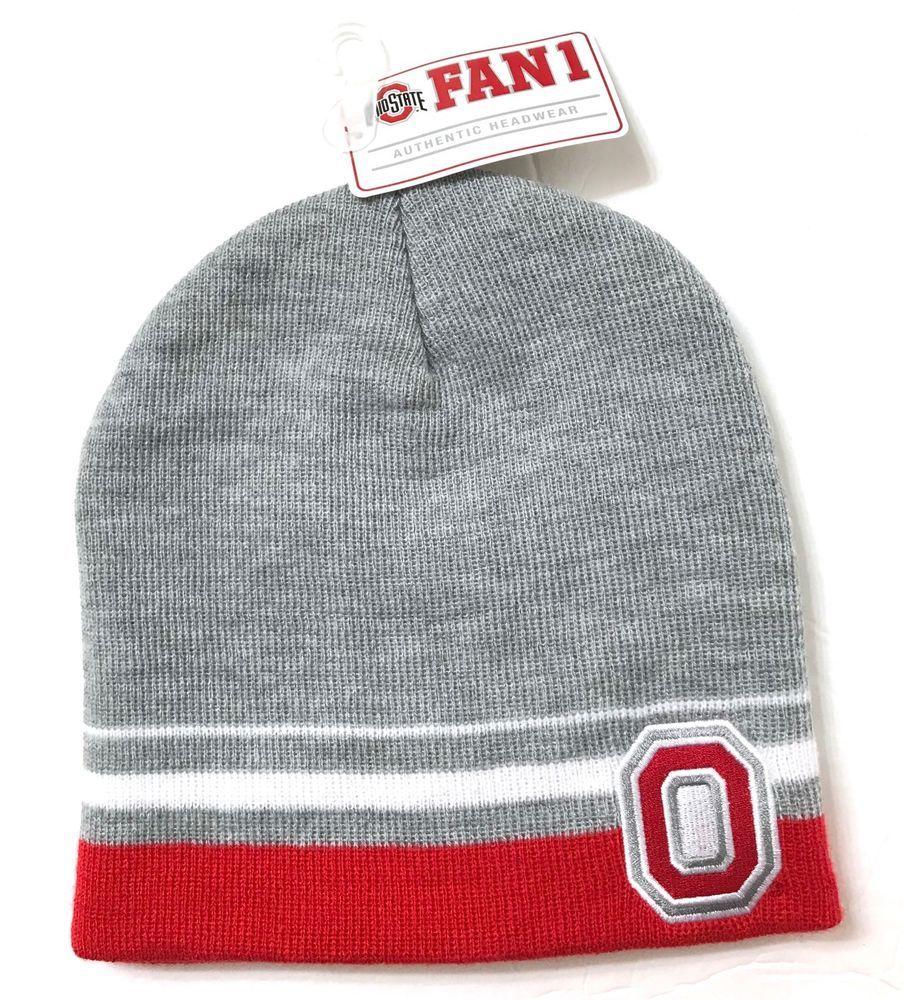 f51f7888c9a new OHIO STATE BUCKEYES BEANIE Gray White Red Letter O Winter Knit Hat  Men Women  Fan1  Beanie  OhioStateBuckeyes