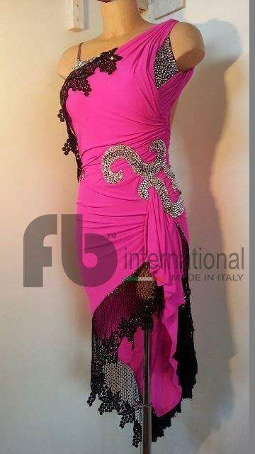 the best attitude e625f 0eb07 Pink Latin Dress - Fb International Abiti Da Ballo | dance ...