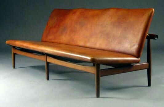 Slim leather couch | Bench in 2019 | Furniture, Danish ...
